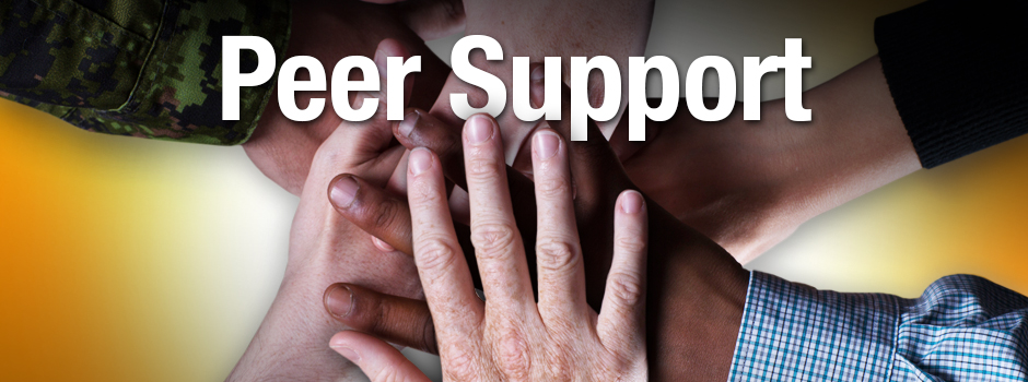 Slide - Members/families: get peer support. Operational Stress Injury Social Support (OSISS).
