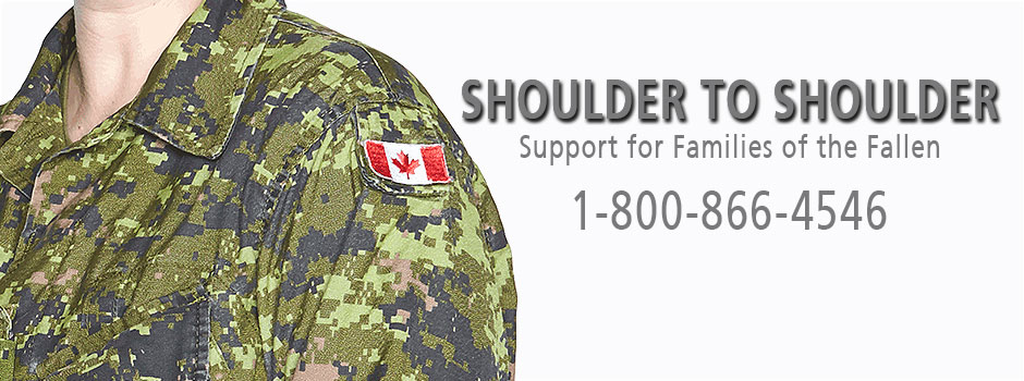 Slide - Memers/families: Shoulder to shoulder - Support for Families of the Fallens, 1-800-866-4546