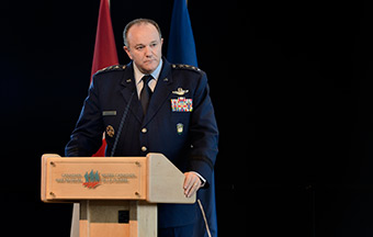 "General Philip M. Breedlove, Supreme Allied Commander Europe (SACEUR), delivers remarks on ""NATO Capability and the Transatlantic Bond"" for an event hosted by the Canadian Defence Association Institute at the Canadian War Museum's LeBreton Gallery, in Ottawa, Ontario on May 5, 2014."