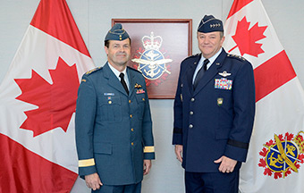 General Philip M. Breedlove, NATO's Supreme Allied Commander Europe (SACEUR), meets with General Tom Lawson, Chief of the Defence Staff of the Canadian Armed Forces, on May 6 2014 in Ottawa, Ontario. The Canadian Armed Forces have been an important contributor to NATO operations since its founding by providing modern, deployable capabilities to allied missions and highly trained personnel to its command structure.