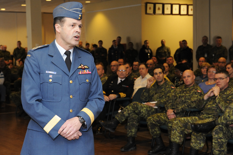 Gen. Lawson spoke to members of the Canadian Army's 4th Canadian Division and Canadian Forces College.