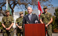 On Wednesday August 7th 2013, the Honourable Rob Nicholson, Minister of National Defence, announces infrastructure improvements for the Seaforth Armoury, and construction of the new Jericho Headquarters Building for 39 Canadian Brigade Group.