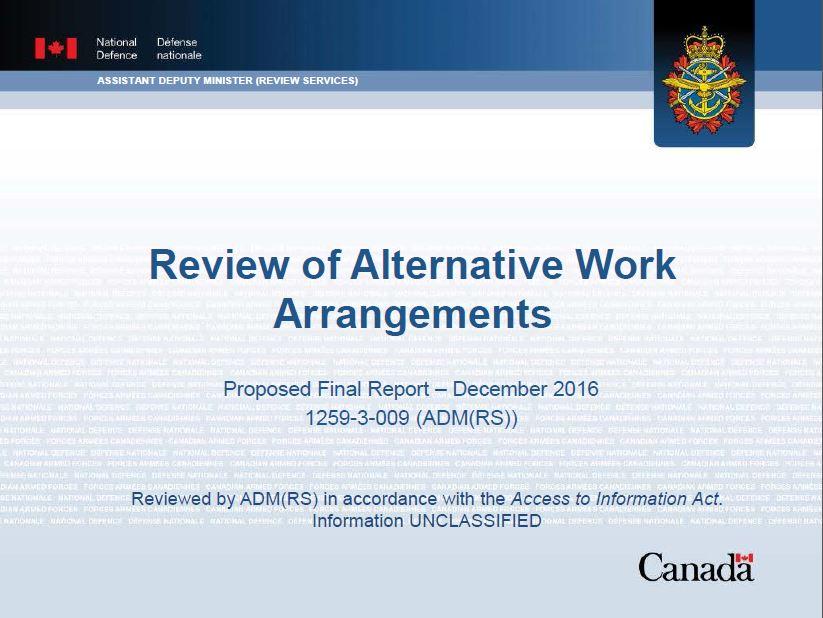 Review Of Alternative Work Arrangements