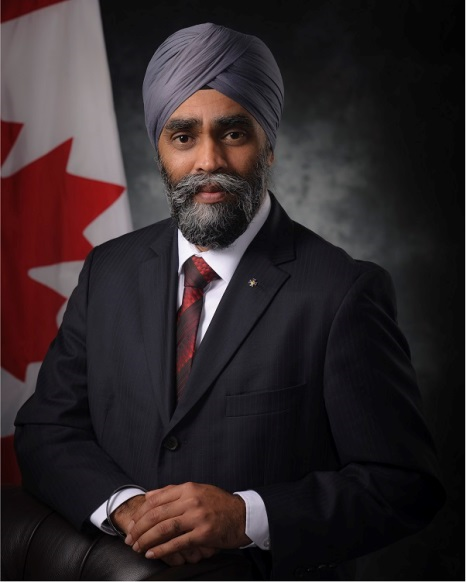 The Honourable Harjit S. Sajjan, PC, OMM, MSM, CD, MP - Minister of National Defence
