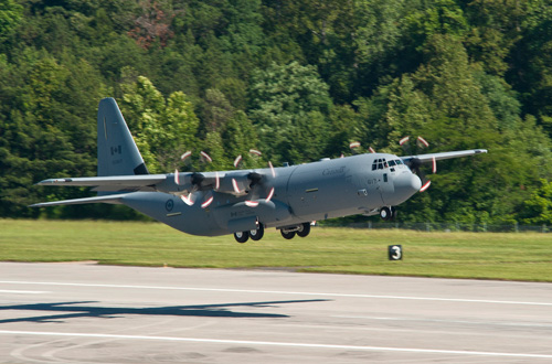 Canada's 17th CC-130J Hercules departs Marietta, Georgia, bound for 8 Wing Trenton, Ont., on Friday, May 11, 2012.