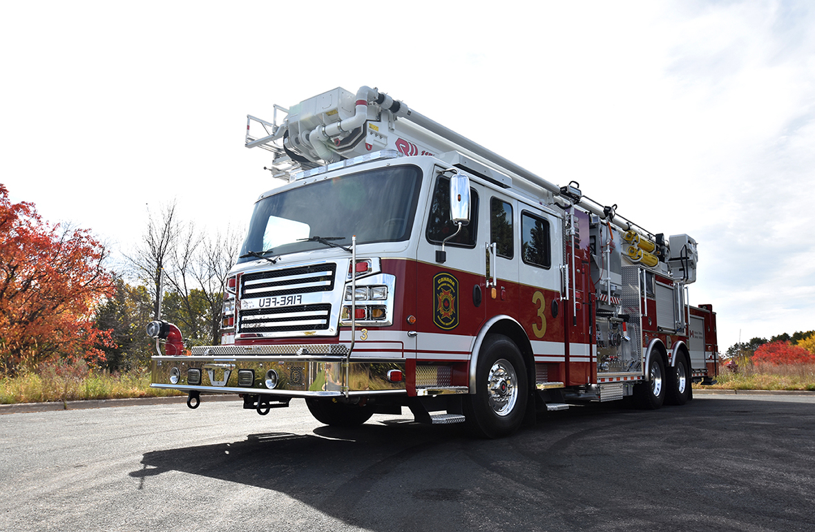 The first of nine new fire trucks is delivered to Trenton
