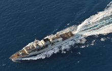 HMCS Halifax sails in the Caribbean Sea just outside Jacmel, Haiti, for OP HESTIA on February 18, 2010.