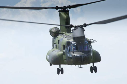 June 24, 2012 - Maiden flight of the first Canadian CH-147 Chinook under the Medium-to-Heavy Lift Helicopter project.