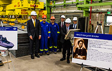 August 25, 2016, the Arctic and Offshore Patrol Ship (AOPS) project marked another significant milestone with the cutting of steel of the future HMCS Margaret Brooke, the second ship in the class. The event took place at Irving Shipbuilding Incorporated's Marine Fabrication facility in Dartmouth, Nova Scotia, with Geoff Simpson, the AOPS Project Manager, activating the plasma cutter to enter the ship into production. As part of the National Shipbuilding Strategy's combat vessel work package, the AOPS project will deliver six vessels to the Royal Canadian Navy by 2022.