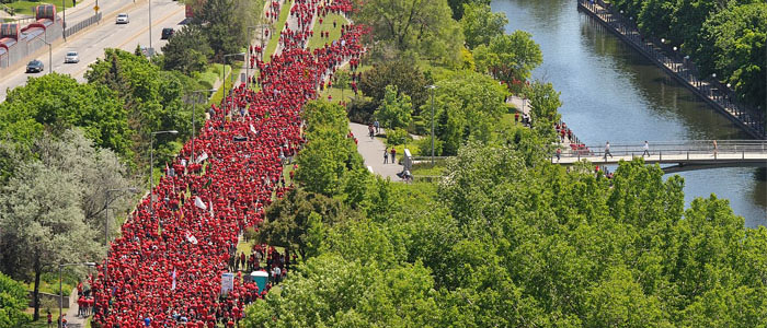 Slide - Walk/Run in Red along the Rideau Canal