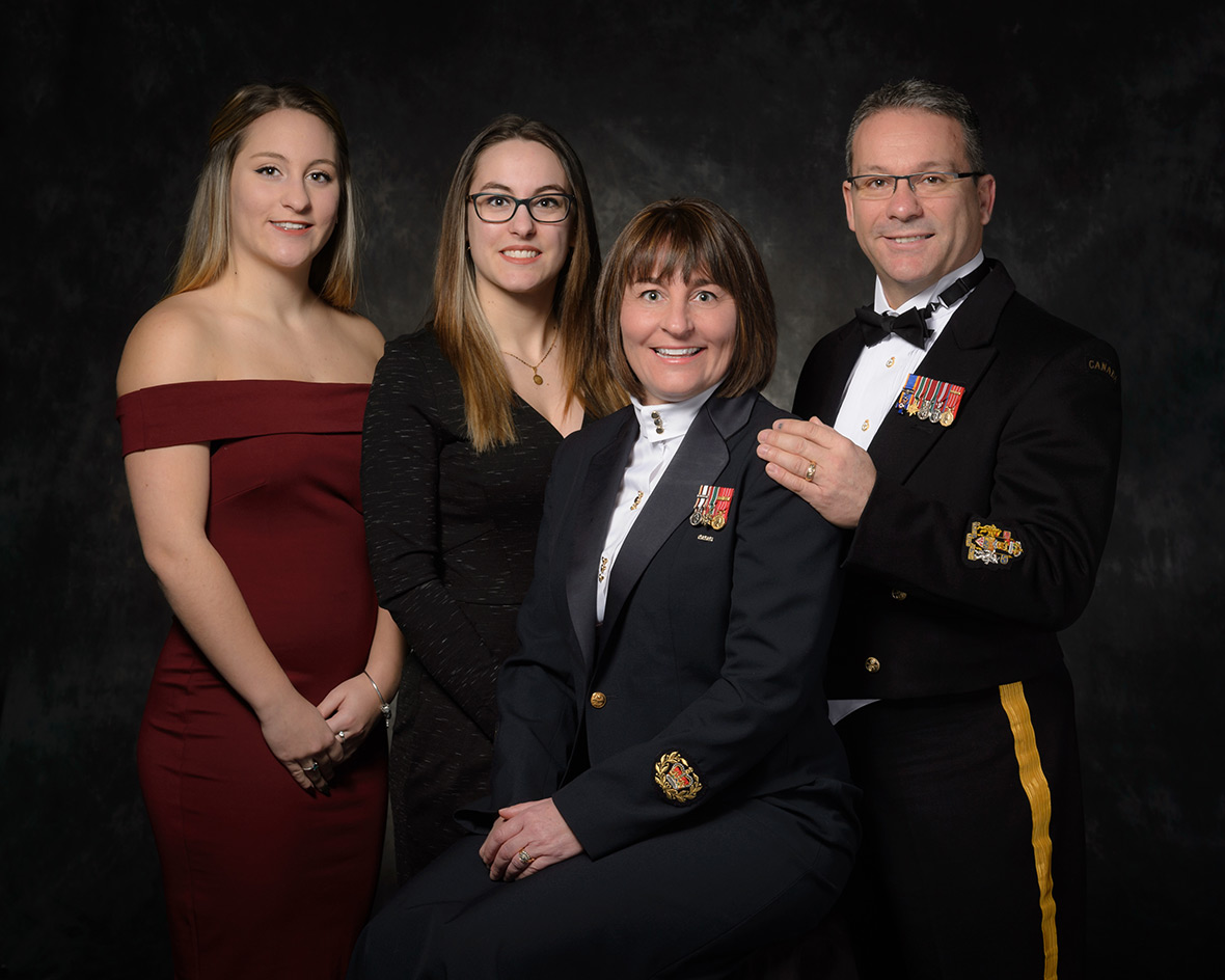 Departure with dignity of Master Warrant Officer Denise Bolduc, CD, taken in studio at CFSU(O) Imaging Services. Ottawa, Ontario, on 3 March 2017. Photo Credit: Corporal (Cpl) Mélani Girard Canadian Forces Support Unit (Ottawa) - Imaging Services