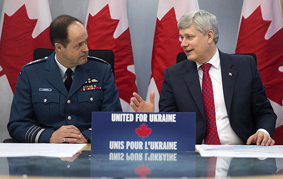 Prime Minister Stephen Harper today announced that the Government of Canada will provide significant additional military resources to help train and build the capacity of Ukrainian forces personnel.