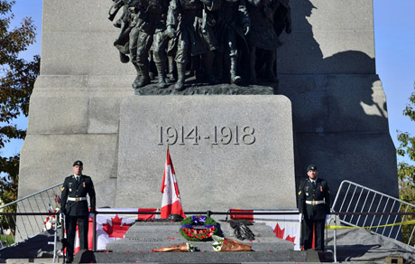 The National Sentry Program resumes at the National War Memorial in Ottawa on October 24, 2014.