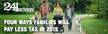 Four ways families will pay less tax in 2015