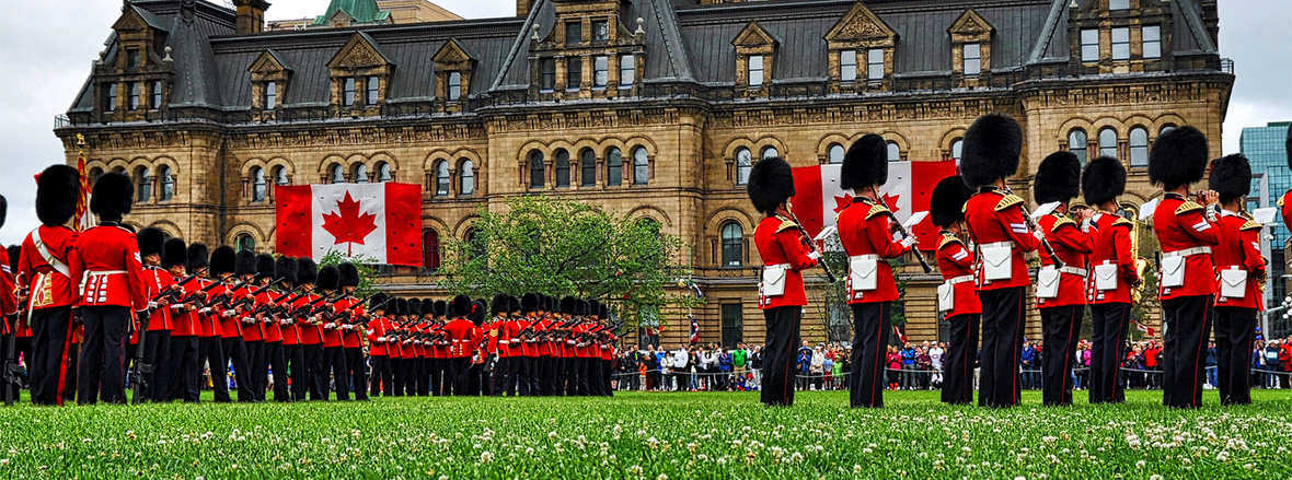 The Ceremonial Guard mounts the first guard of the 2015 season