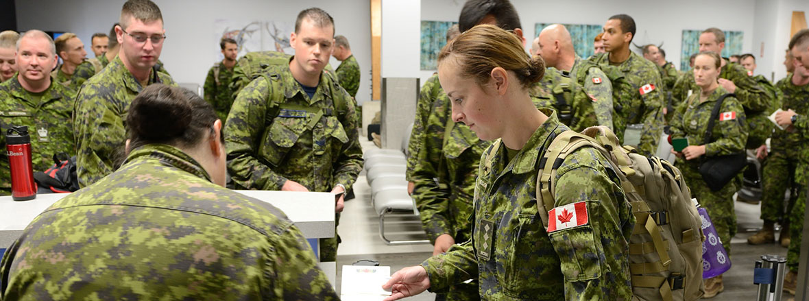 Slide - Canadian Army soldiers continue to support Operation REASSURANCE