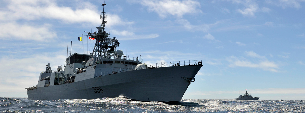 Slide - Royal Canadian Navy ships depart for Great Lakes Deployment