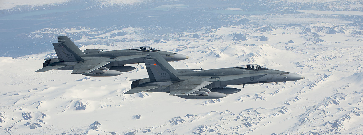 Slide - CF-18s ready to patrol skies over Iceland
