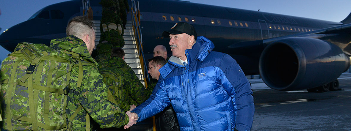 Canadian soldiers depart for Operation REASSURANCE in Eastern and Central Europe
