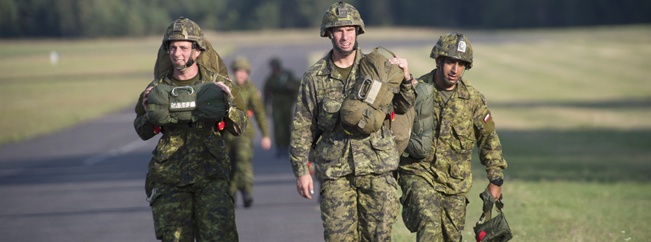 The CAF participating in NATO Reassurance Measures