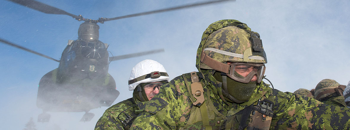 French and Polish soldiers join Canadians for winter combat training