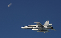 A CF-188 Hornet flies in the Alaskan airspace during NORAD's Exercise Vigilant Eagle on August 28, 2013