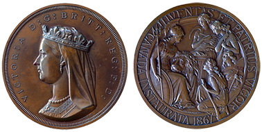 The 1867 Confederation Medal (obverse and reverse).