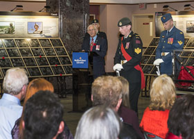 St. John's, Newfoundland and Labrador. 24 October 2014 – Lieutenant Governor of Newfoundland and Labrador, His Honour the Honourable Frank F. Fagan, speaks at The Afghanistan Memorial Vigil while it visits St. John's, Newfoundland and Labrador, to remember and honour those who have fallen in Afghanistan. It also acknowledges the bravery, dedication, valour and professionalism of all members of the Canadian Armed Forces who have served in Afghanistan and supported the mission. The vigil was open for public viewing at the Confederation Building from the 24-27 of October. (Photo: Leading Seaman Ronnie Kinnie, Formation Imaging Services)