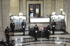 Winnipeg, Manitoba. 16 September 2014 –Members of the Canadian Armed Forces take part in the Afghanistan Memorial Vigil Ceremony held at the Manitoba Legislative Building. (Photo AS2014-0062-003 by Sgt Bern LeBlanc Canadian Army Public Affairs, 3rd Can Div HQ)