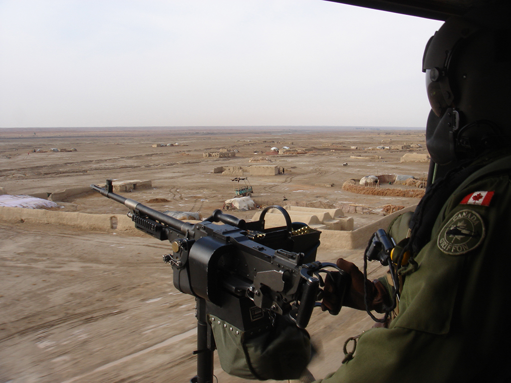 Kandahar Province as seen from a Canadian CH-146 Griffon Helicopter