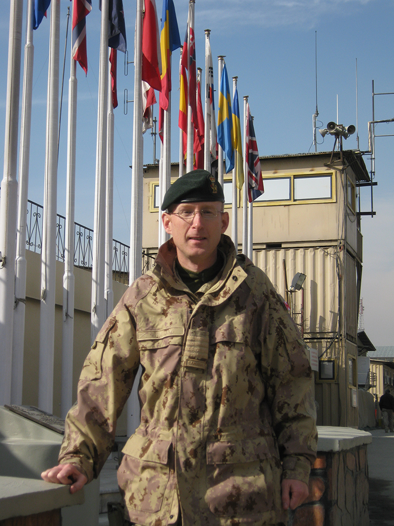 Colonel David Henley took leave from his civilian law practice in Halifax to deploy to Kabul, Afghanistan 2009. He served with the Combined Security Transition Command as the Senior Mentor for Afghan National Army Development. - Photo courtesy Col DAVID HENLEY