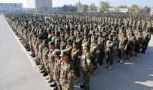 Kabul, Afghanistan. 9 November 2013- Over 2000 Afghan National Army soldiers line up for a graduation parade at the Kabul Military Training Centre on November 9, 2013 during Operation ATTENTION in Kabul, Afghanistan. (Photo: Sgt Norm McLean, Canadian Forces Combat Camera)