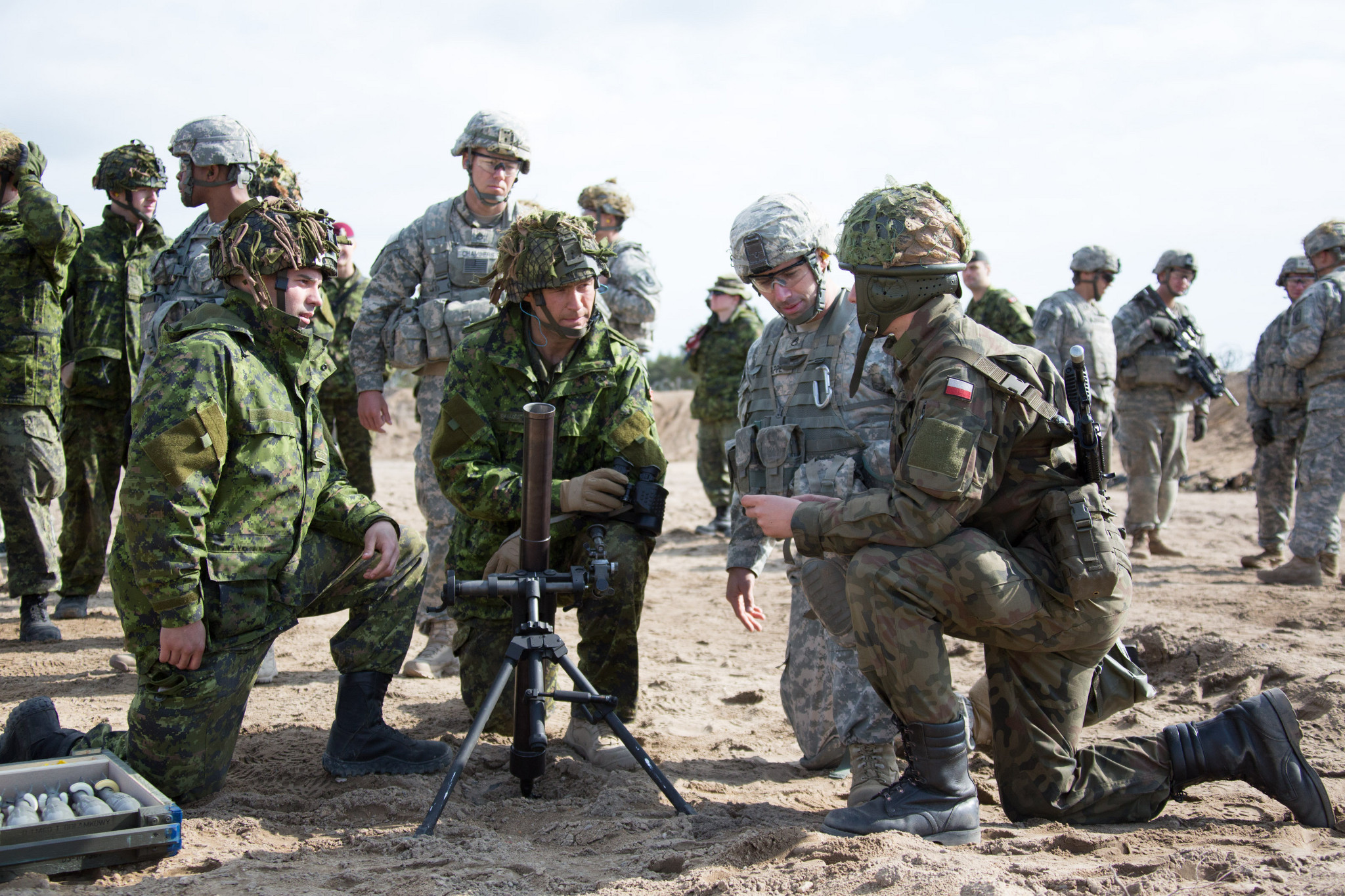 Image result for images of canadian armed soldiers in poland