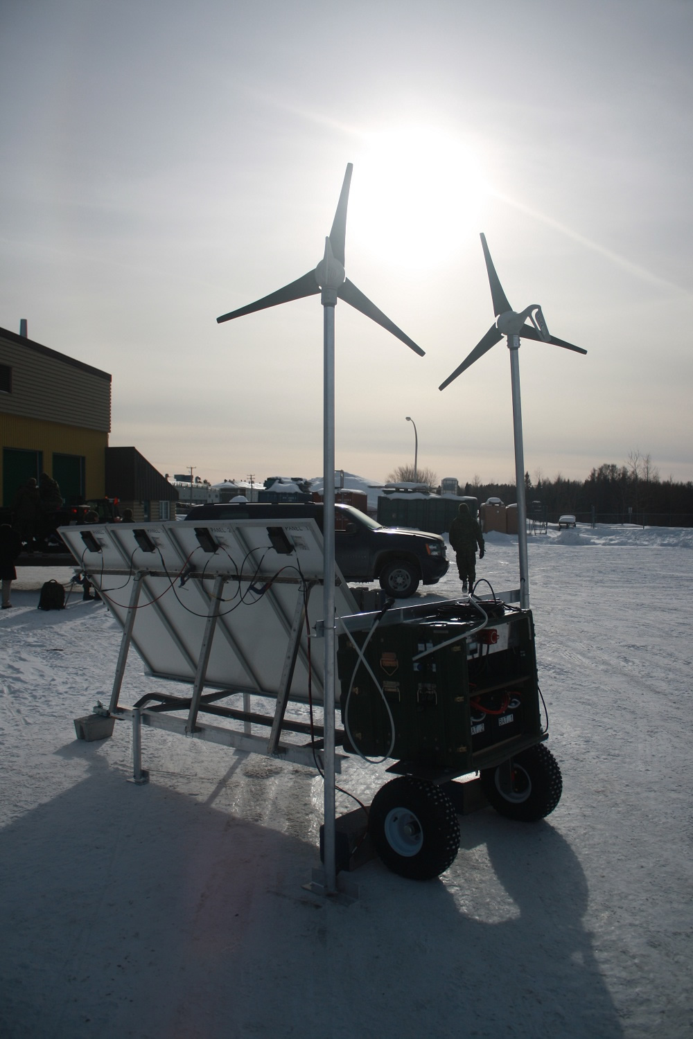 Canadian Forces Base Valcartier, 5 February 2014 – The mini electric ...