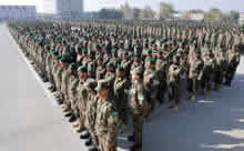 Kabul, Afghanistan. 9 November 2013 – Over 2000 Afghan National Army soldiers line up for a graduation parade at the Kabul Military Training Centre on November 9, 2013 during Operation ATTENTION in Kabul, Afghanistan. (Photo: Sgt Norm McLean, Canadian Forces Combat Camera)