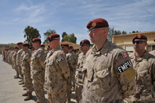 MFO North Camp, Sinai, Egypt, 23 March 2015 - Members of the Canadian Military Police participate in a transfer of responsibility parade for the military police of the Multinational Force and Observes, Sinai, Egypt. Photo credit: Sgt Tom Duval, US Army