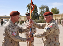 Comd Multinational Force and Observers installs the new Commander of the Force's Military Police.