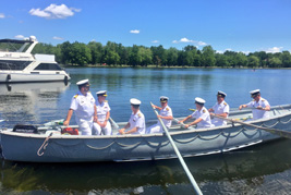 "Commander RCN ""rowed ashore"" in change of command ceremony"
