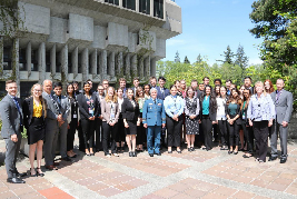 Lieutenant-General Chris Whitecross, Commandant of the NATO Defense College and the students of the Simon Fraser University 2018 NATO Field School.