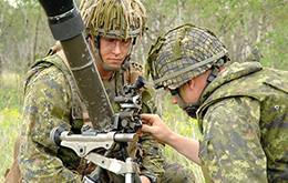 Infantry members hone mortar skills at Canadian Forces Base Shilo