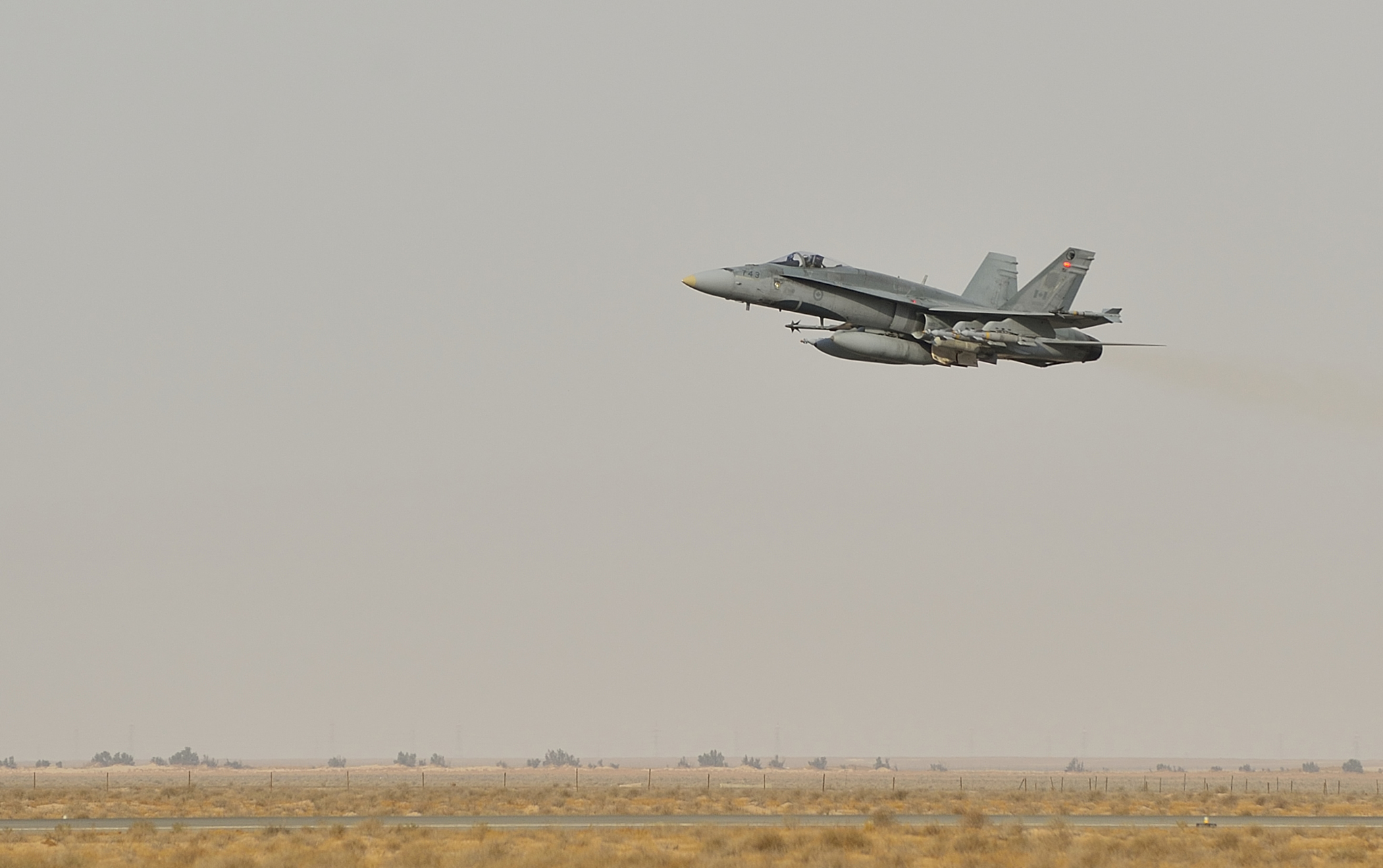 30 October 2014 Kuwait A Canadian Armed Forces Cf 188 Fighter Jet Takes