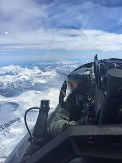 May 15, 2017 – A CF-188 Hornet pilot conducts a training flight over Iceland during Operation REASSURANCE. (Photo: RCAF pilot, DND)