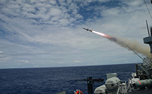 Her Majesty's Canadian Ship (HMCS) Calgary conducted a live fire Missile Exercise during exercise Rim of the Pacific 2016, in order to fire on decommissioned United States Navy ship on Tuesday, July 19, in waters 55 nautical miles North of Kauai. HMCS Calgary successfully struck ex-USS Crommelin (FFG 37) with a single HARPOON Remote Guided Missile 84 Block II Telemetric missile. This successful missile shoot is a major step towards proving the stated capability of the HARPOON BLOCK II, and in validating the performance of the Royal Canadian Navy's modernized Halifax Class ships.